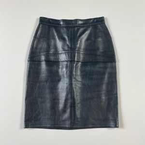 Vtg Alaia Leather Skirt Size 36 French (XS)